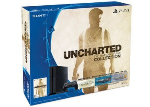 Playstation 4 - 500GB - Edição limitada Bundle Uncharted  The Nathan Drake Collection