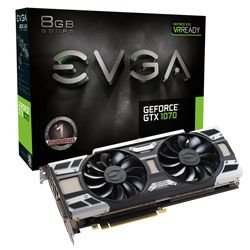 Placa de vídeo GEFORCE GTX 1070 GPU EVGA GAMING ACX 3.0 8GB DDR5 256BITS - 08G-P4-6171-KR