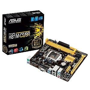 Placa Mãe Intel H81 LGA1150 H81M-CS/BR 90MB0LK0-C1BAY1 Asus