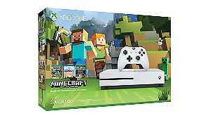 Console Microsoft Xbox One S Microsoft 500GB Edição com Minecraft