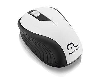 Mouse Sem Fio Wave Multilaser Mo216 Branco 1200dpi 2.4ghz Anatômico