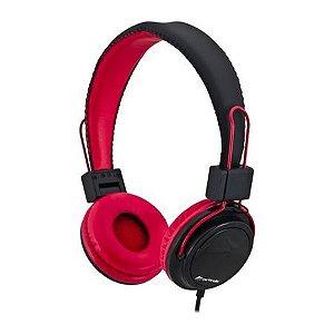 Headphone Fortrek com Microfone HS313 Preto/Vermelho 54497