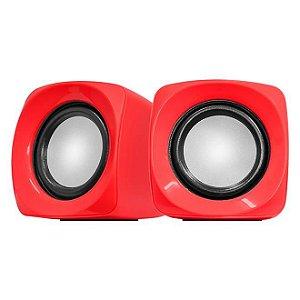 Mini Caixa De Som Cross 6w Rms Vermelho - Pcyes 24304
