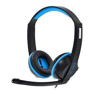 Headset Gamer PCYes Hawk com Microfone Azul 21834