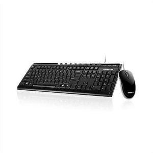 Gigabyte Teclado Multimídia + Mouse Óptico 800dpi USB Preto GK-KM6150.