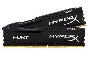 Memoria Kingston HyperX Fury 8GB DDR4 2400MHz Black, HX424C15FB2/8 - BOX