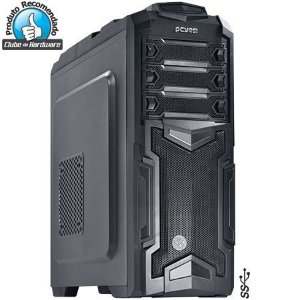 GABINETE MID-TOWER PANTHER PRETO COM 5 FANS SEM LED CABLE MANAGEMENT - PHANTERPTOSL5FSA - PCYES