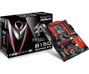 Placa Mãe ASRock B150 Gaming K4, LGA 1151, Intel B150 - BOX