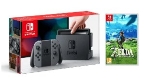 CONSOLE NINTENDO SWITCH 32GB NEON BLUE NEON RED COM ZELDA BREATH OF THE WILD - PRÉ VENDA