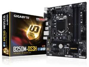 Placa mãe B250M-DS3H Gigabyte DDR4