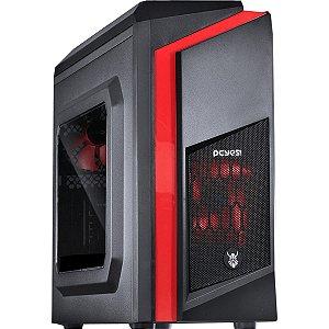 Computador Gamer V-gamer Dwarf Red - G4560 - H110 - 8Gb DDR4 - 1Tb HD - Fonte 400w - Rx 550 2Gb- Gabinete Dwarf