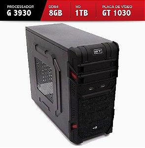 Computador Gamer V-Gamer Monaka- H110M - G3930 - 8Gb ddr4 - GT1030 - 1TB - 400w - Gabinete Gt Window Black