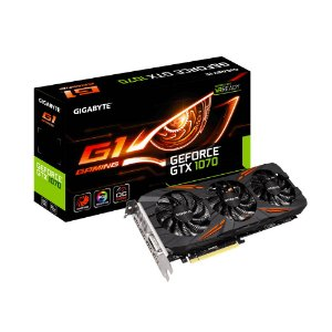 Placa de vídeo GTX1070 8GB G1 Gaming GDDR5 Gigabyte