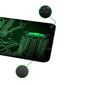 Mousepad Rise Gaming- CIRCUIT- COSTURADO- Tamanho medio - Fibertek