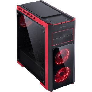 Computador Gamer V-Gamer  Wars - Ryzen 5 - AB350 - 1070 - 8Gb - 1Tb - 600w - Gabinete Tank Vermelho