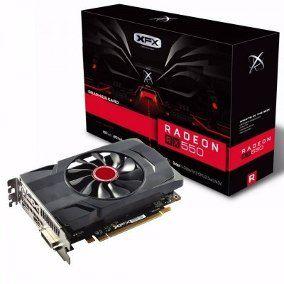 GPU RX 550 4GB RADEON DDR5 1203MHZ CORE DP XFX RX-550P4SFG5
