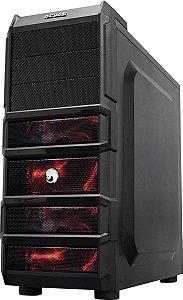 Gabinete Gamer Rhino Br 3Fan Led Red -