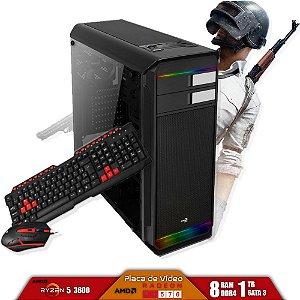 Computador Gamer V-Gamer Rabbit - Ryzen 5 3600 - A320 - 8Gb DDR4 - 1Tb HD - Fonte 400w - RX 570 4gb - Gabinete
