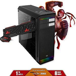 Computador Gamer V-Gamer Moba - Athlon 200Ge - A320M - 8Gb - 1Tb - Ssd 120Gb - 400W - Gabinete