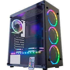 Computador Gamer V-Gamer  Pentakill - Ryzen 5 3600 - A320M - 8Gb - 1Tb - Ssd 120Gb - 1660 6Gb - 500W - Gabinete Rgb