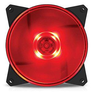 FAN P/ GABINETE MasterFan MF120R Vermelha