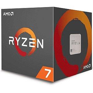 Processador AMD Ryzen 7 2700X, Cooler Wraith Prism, Cache 20MB, 3.7GHz (4.35GHz Max Turbo), AM4, Sem Vídeo - YD270XBGAFB