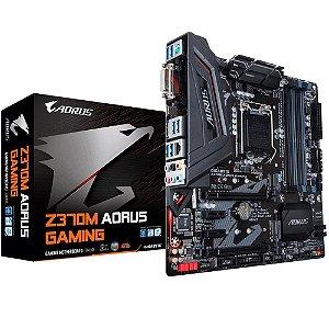 PLACA MAE INTEL GIGABYTE Z370M AORUS GAMING DDR4 1151 8 GERACAO