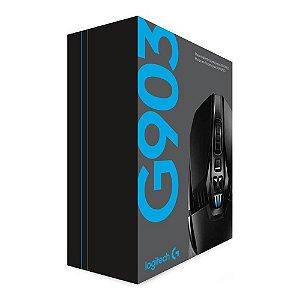 MOUSE LOGITECH GAMER G903 LIGHTSPEED SEM FIO OPT USB PTO