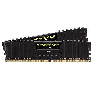 Kit Mem Corsair Vengeance 2x8GB 2400MHz DDR4 C16 Preta PN # CMK16GX4M2A2400C14