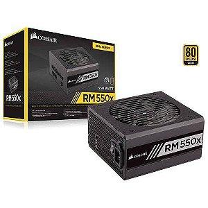Fonte Corsair 550W RMx 80Plus Gold Modular ATX12V PFC PN # CP-9020177-WW - S/CABO