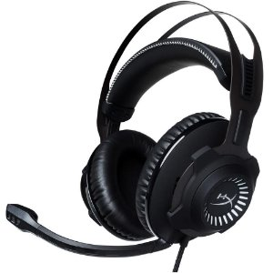 HEADSET GAMER HYPERX CLOUD REVOLVER S KINGSTON PRETO COM CINZA