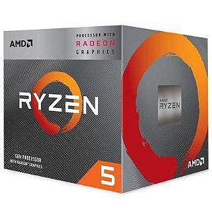 PROCESSADOR AMD RYZEN 5 3400G DDR4 42GHz AM4 6MB CACHE