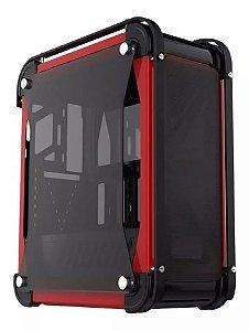 Gabinete Xtrike Gaming VOLCANO PN # G8 BK/RED ( Nao Acompanha Ventiladores / Cx Sem Logo )