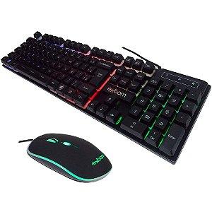 Kit Gamer Teclado + Mouse c/ fio, Led RGB, BK-G550