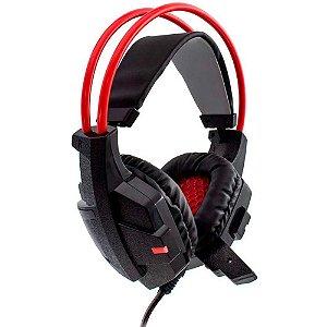 Headset Gamer Evolut EG 303 - Preto e Vermelho