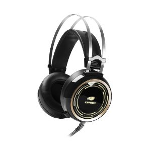 Fone de Ouvido Headset Gamer C3 Tech PHG310BK Black Kite Led RGB