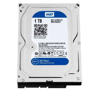HD WD Blue, 1TB, 3.5´, 64 MB, 7200 RPM, 60 GBS, Western Digital, Sata - WD10EZEX
