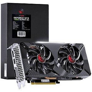 Placa de Video PCYES Geforce GTX 1660 Super 6 GB, Dual Fan, GDDR6, 192 Bits, DP/HDMI/DVI, Black Box - PP1660SOC19214G6