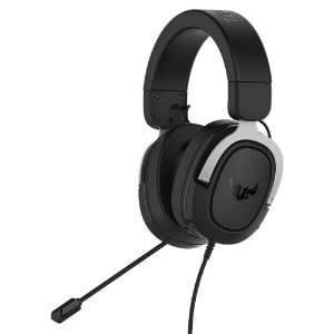 Headset Asus TUF H3 Silver, 7.1, Surround, 50mm, PC/MAC/PS4/Siwtch/Xone/Phones - 90YH025S-B1UA00