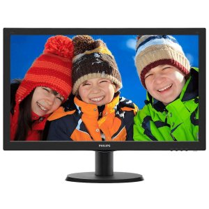 Monitor Philips LED 23.6´ , Full HD, HDMI/VGA/DVI, Com Som Integrado - 243V5QHABA