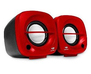 Caixa De Som C3tech, Preto e Vermelha, 3w, USB - SP303RD