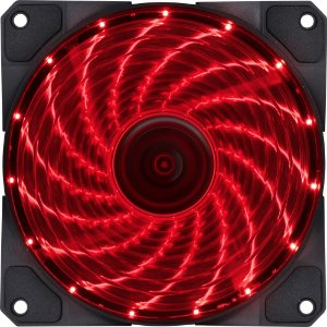 Fan para Gabinete V.Lumi, 15, Led, 120X120, Vermelha