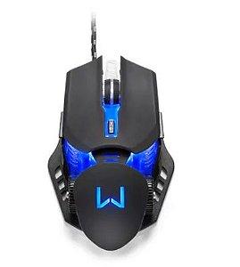 Mouse Gamer Warrior Keon 3200DPI 6 Botões Ambidestro Preto, MO267 - 7899838836805