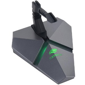 Mouse Bungee C3 Tech, Hub USB, C/ Leitor Micro USB, Prata/Preto, RGB, MB200SI - 413020190100