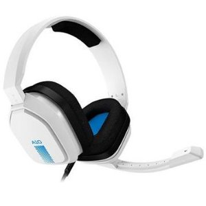 Headset ASTRO Gaming A10 para PlayStation/PC/Switch/Xbox, P2,  Branco/Azul - 939-001853