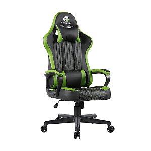 Cadeira Gamer Fortrek, Vickers, Preta/Verde, Fixa - 7898554606617