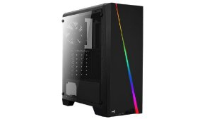 Gabinete Aerocool, Cylon RGB, Acrilico, Gamer, Preto - 4713105968842