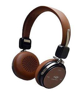 Fone De Ouvido, Bluetooth 4.2, C3Tech, Phb600Bw, Marrom - 7898555214972