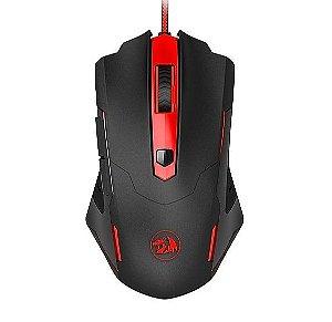 Mouse Gamer Redragon Pegasus, 7200 DPI, USB, Preto/Vermelho - M705