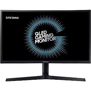 Monitor Gamer Samsung LED 27´ Widescreen Curvo, Full HD, HDMI/Display Port, 144Hz, 1ms - LC27FG73FQLXZD